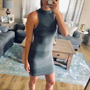 Acemi | Olive Green Sleeveless Ribbed Mini Dress